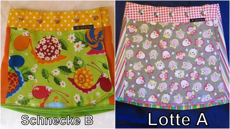 Children reversible skirt 2 sides SchneckeBLotteA in 3 image 0