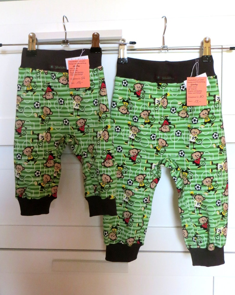 Bloomers for children Soccer monkey size 56-122 image 0