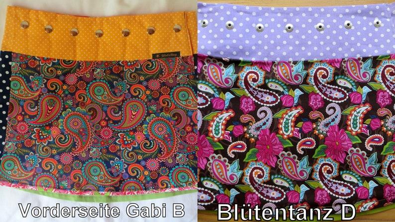 Summer reversible skirt short or long two sides GabiB image 0