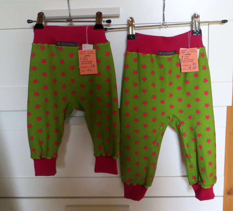 Bloomers for children star pink size 56-122 image 0