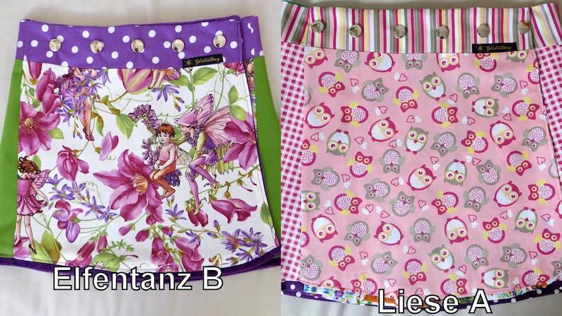 Children reversible skirt 2 sidesLieseAElfentanzB in 3 image 0