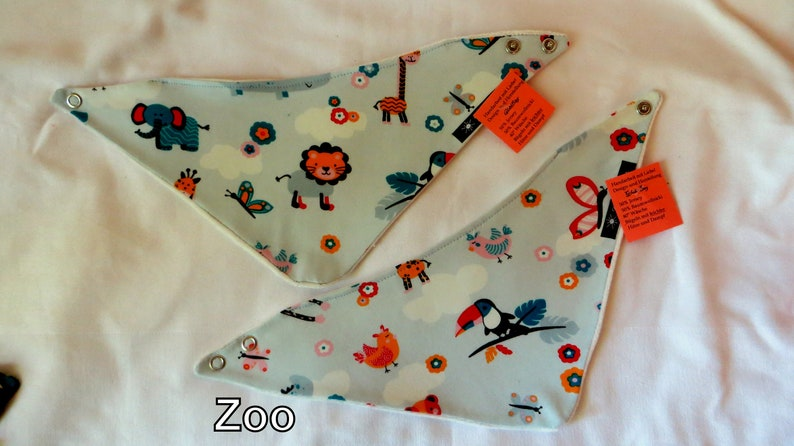 warm scarf small and large neckerchief Zoo age: 0-3 years  image 0