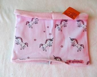 Loop, scarf unicorn, age 4-12 years, lined, neck sock