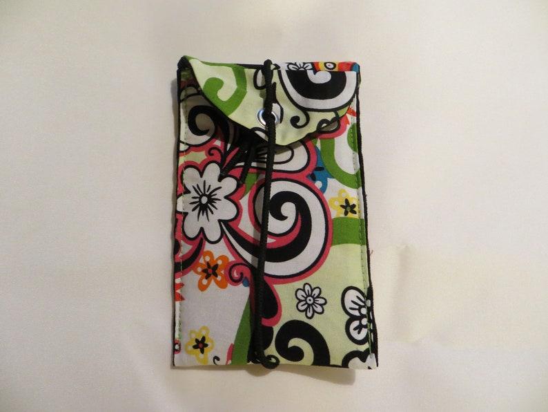 Mobile  I Phone  Bag M 13x8cm Paradise fabric mix image 0