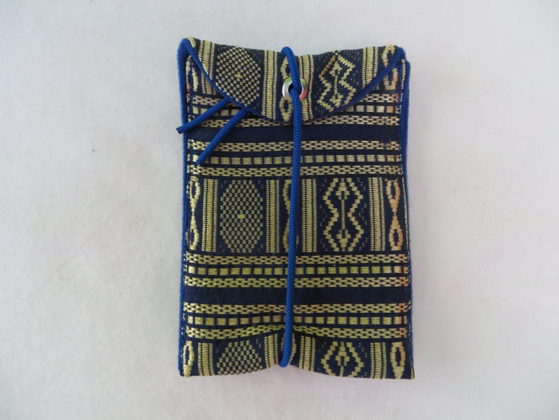 Mobile  I Phone  Bag M 13x8cm Brokatroyal 1 fabric mix image 0