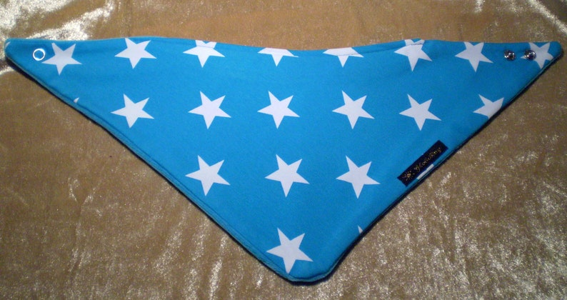 warm scarf big star turquoise age: 4-9 years children image 0