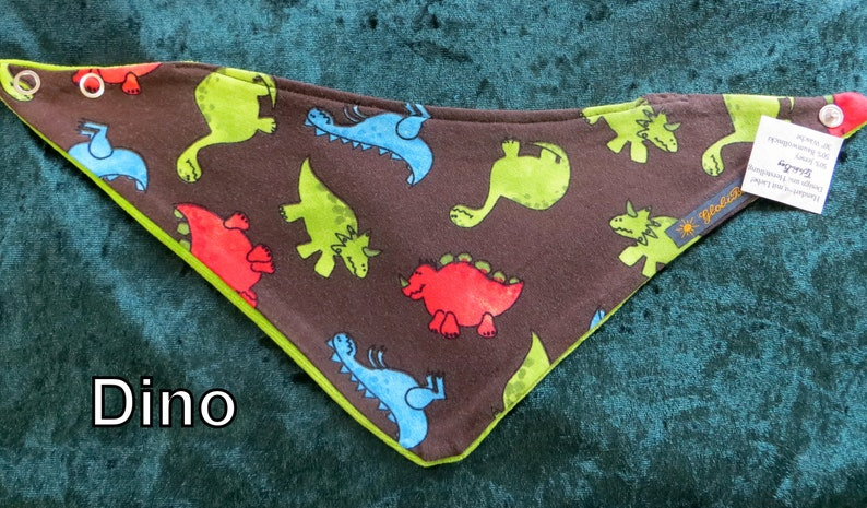 warm scarf small and large neckerchief Dino age: 0-3 years image 0