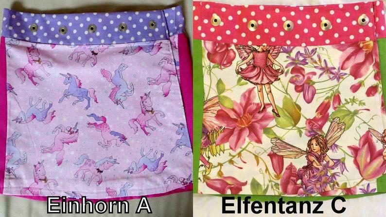 Children reversible skirt 2 sidesEinhornAElfentanzC in 3 image 0