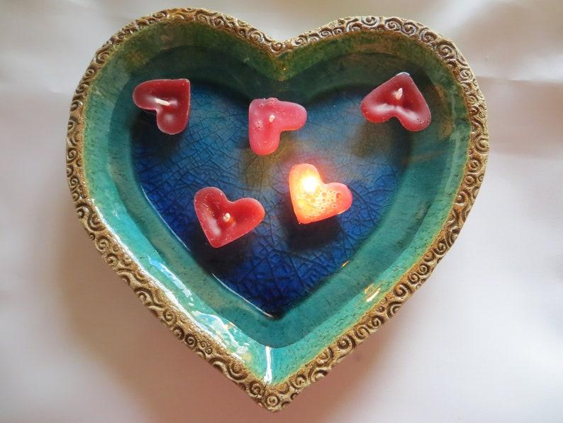 Schwimmkerzen Herz Tischdeko image 0