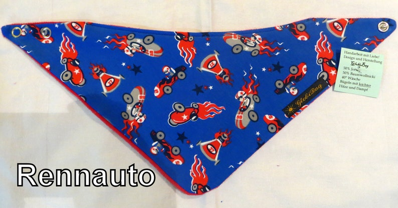 warm scarf small and large neckerchief Race car age: 0-3 image 0