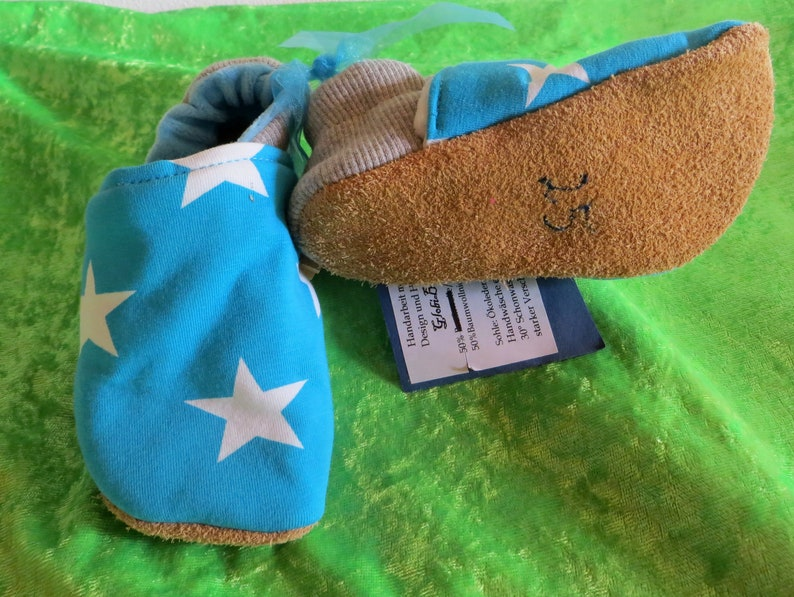 Booties star turquoise size 25 kids slippers toddlers  image 0
