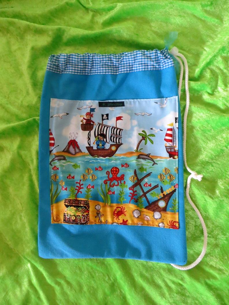 Gym bag for boys pirate blue image 0