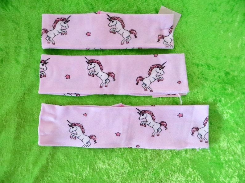 Jersey headband children unicorn Size S M  L image 0