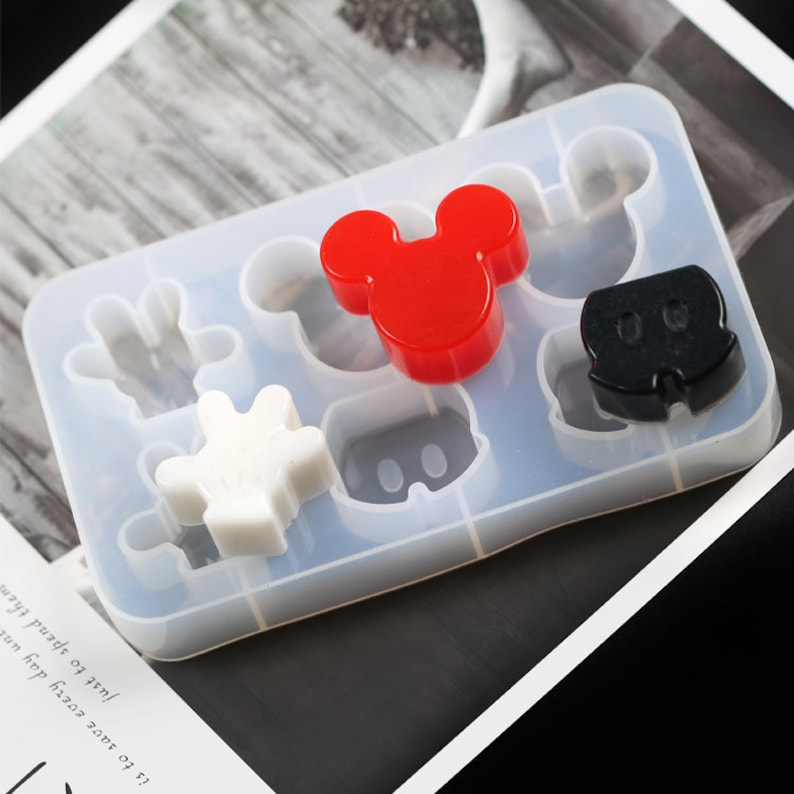 Mickey Mouse Inspired Silicone Mold  UV Resin Epoxy Resin Mold  Resin Charm