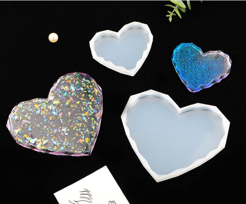 Heart Coaster Silicone Mold | Flexible Reusable | Soap, Epoxy, UV Resin Mold