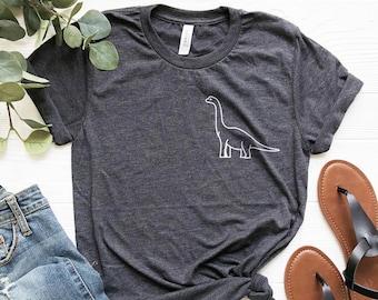 92da3b511 Long Neck - Dinosaur Shirt - Pocket Shirt Brachiosaurus Jurassic Animal  Cute Shirt Brontosaurus Cute Shirt Womans Tee Mens Tshirt Gift Dino