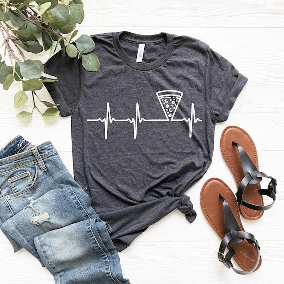 Heartbeat Shirt, Pizza, Pizza Shirt, Pizza Lover, Pizza Fan, Pizza Gift, Pizza Holic, Heartbeat, Heartbeat Shirt, Pizza Lover Gift
