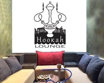 Hookah Lounge wall decor Vape Lounge Bar Hookah Decals Hookah Shop Shisha Club Hookah Vinyl Hookah Wall Art hookah lounge wall art 2690ER
