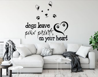 rta218 Lettering Sign Quote Dogs Inspirational Words Living Room Wall Decal Vinyl Sticker Decals Art Decor Design
