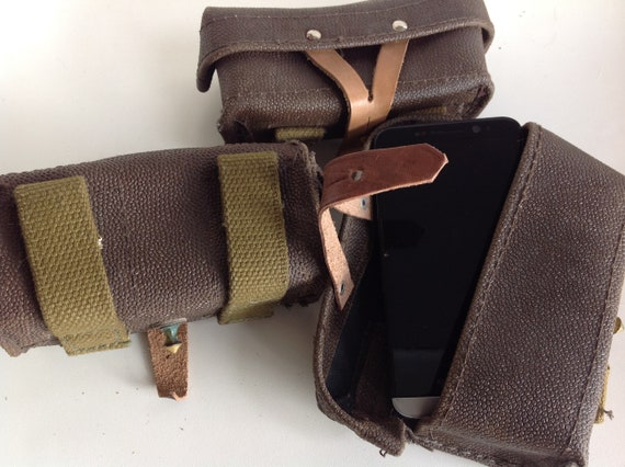 Russian army Original POUCH CHEAP military leather OP-SKS Carbine Soviet Army