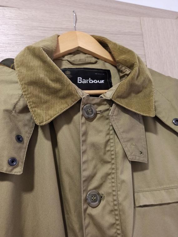 Barbour Jacket Men XXL LightWeight Parka Hooded La