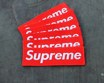 bc72ef0786b8 Big supreme inspired handmade patch iron for a jacket