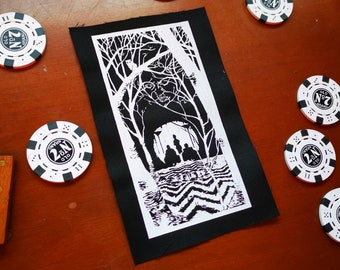 Screen printed patch TWIN PEAKS forest