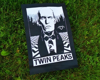TWIN PEAKS - screen printed back patch