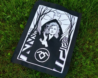 TWIN PEAKS Owl - screen printed back patch