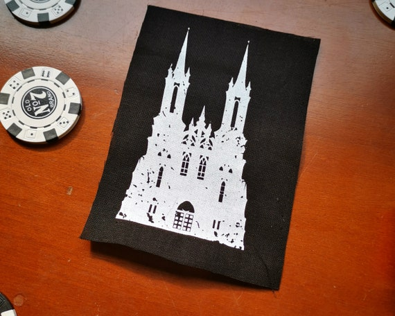 Screen Printed Patch  Gothic Castle by Etsy