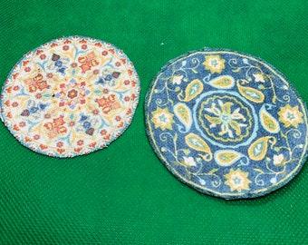 Miniature Dollhouse Porcelain Maple Leaf Platter Coral