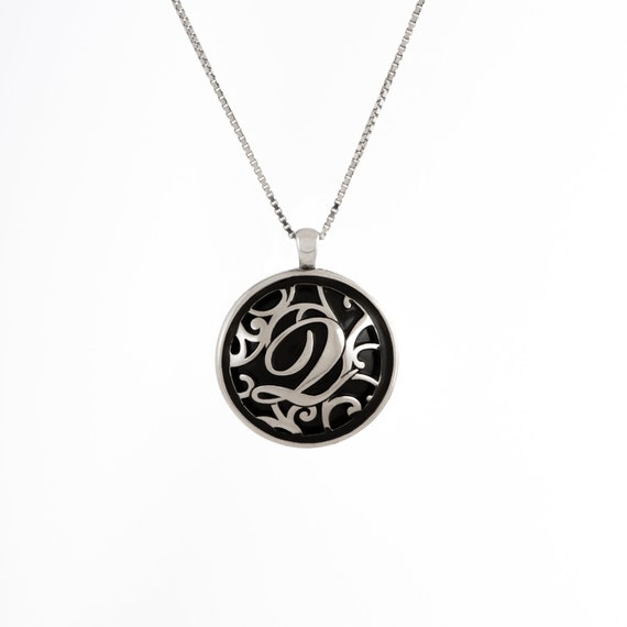 Custom Initial Monogram 925 Sterling Silver Any Name Necklace Pendant 3 Color