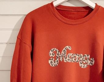 Mama Leopard Pullover, Mama Sweatshirt, Mama Cheetah, Mama Hoodie