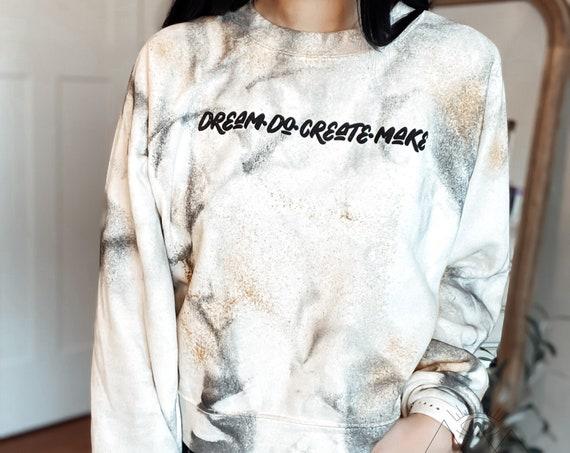 Dream Do Create Make Custom Cropped Crewneck | T-Shirt