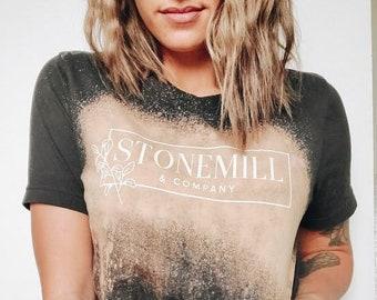 Stonemill & Company Bleach Dye Tee - Bleach Dye Crewneck
