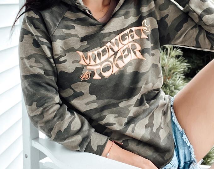 Midnight Toker OR Daydrinker Hooded Sweatshirt