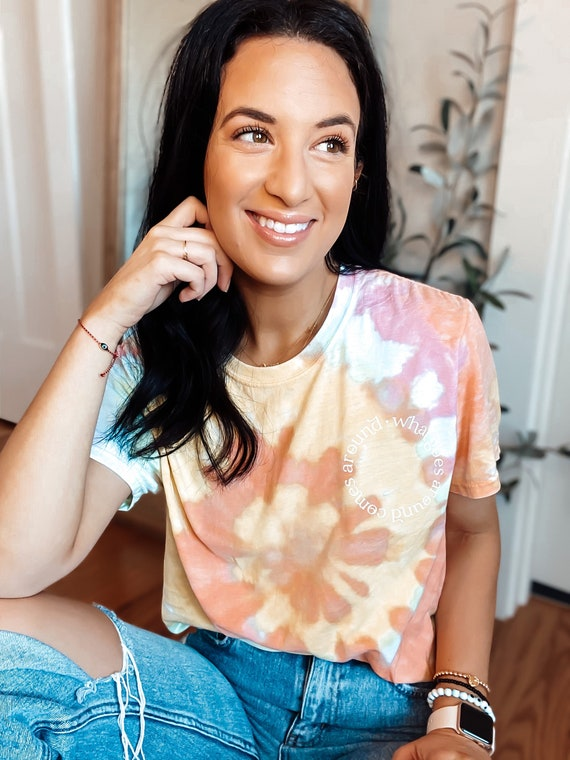 What Goes Around Comes Around Tie Dye Tee