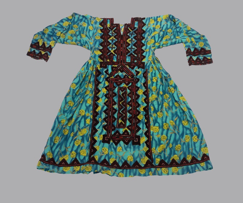 Afgani Embroidery Traditional Bohemian Ethnic Dress Handmade balochi dress,baluchi gypsy banjara tribal hand embroidered antique dress