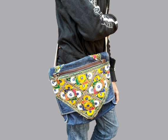 3554c2c9e3 Vintage Jeans Banjara Bags Indian Hand embroidered Vintage