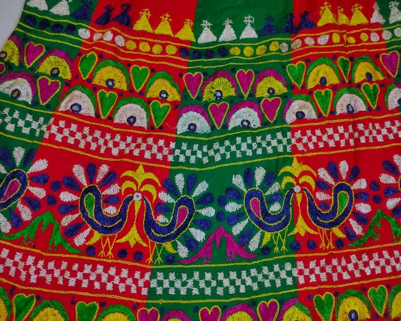 vintage banjara skirt kuchi collectible mirror rabari banjara tribal ethnic belly dance skirt,Hand embroidered heavy tribal boho gypsy skirt