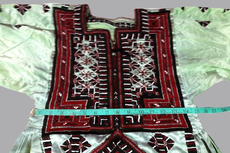 Handmade balochi dress,baluchi gypsy banjara tribal hand embroidered antique dress Afgani Embroidery Traditional Bohemian Ethnic Dress