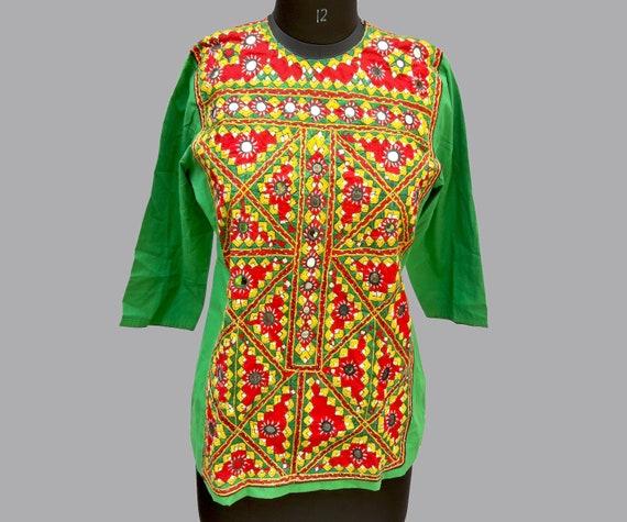 medium size banjara very heavy kedia dress gujarat Kedia,kutch embroidered Mens,womens wear Kedia dress Handmade banjara dress,baluchi gypsy