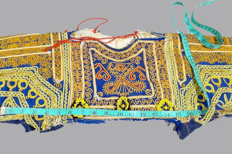 patch,tribal ethnic kuchi belly dance embroidery old dress choli Dress yoke vintage kuchi banjara Afghan Banjara Hand Embroidered Choli