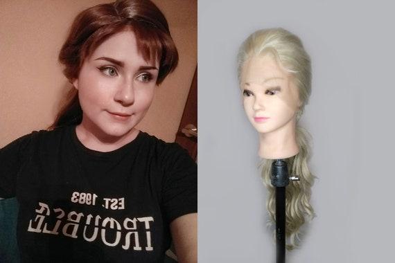 Princess Anna Queen Elsa cosplay wig , Frozen 2 II