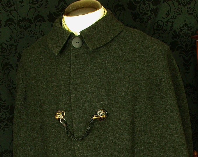 SOLD...Rare Bespoke Vtg Coaching Victorian Ulster Inverness Cape Coat 44 46 Large XL....SOLD