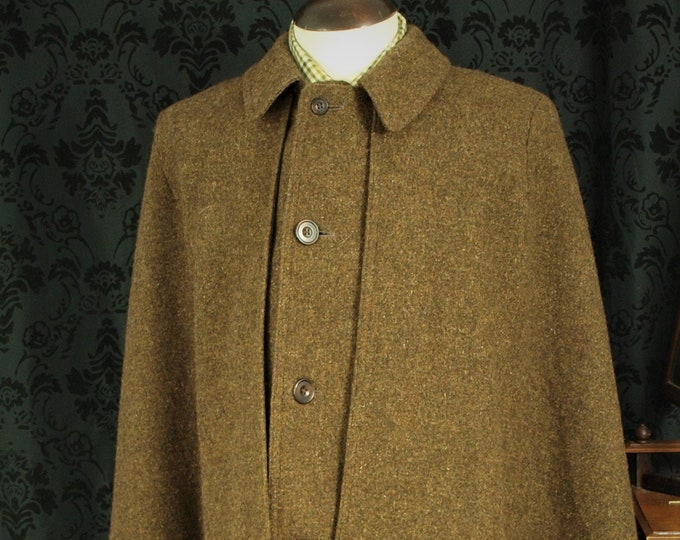 Sold..... Rare Mens Vintage Tweed Ulster or Inverness Cape Coat Overcoat..... Sold