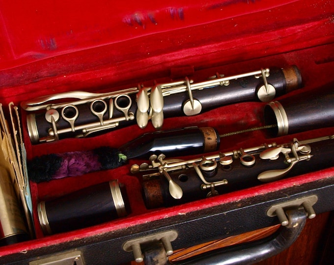 Sold ......Vintage Paris Buffet Crampon Clarinet In Original Box Case vandoren reeds
