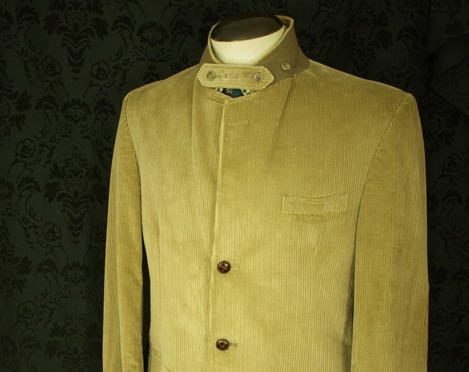 Mens Orvis Cord Norfolk Country Style Jacket Action Vents Storm Collar 42 Large Tailored in the USA RRP 325