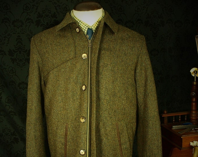 Mens Magee Tweed Country Jacket Coat in a Size 42 to 44 Large great for the summer and autumn with half Cotton lining