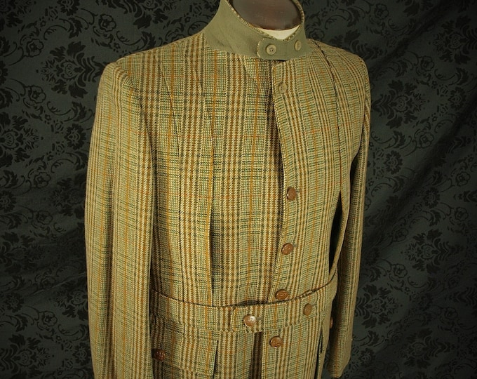 Amazing New Vintage Deadstock Mens famous Scotch House Norfolk Tweed Country Jacket in a size  40 inch medium slim 42 large